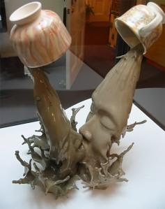 Yuanyang II, ceramic sculpture by Johnson Tsang, 2003
