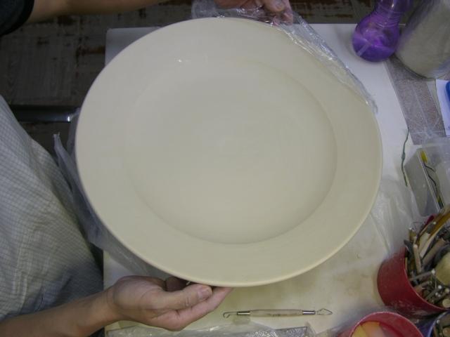 "17"" porcelain plate"