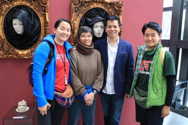 謝謝遠渡從香港來支持的學生,真有心。