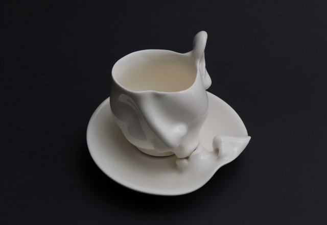 Porcelain cup and saucer 2009