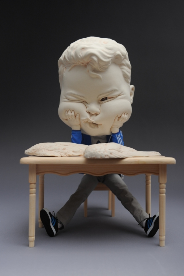 A Job Offer Porcelain and  figure model L36 W22 H22cm  2015 by Johnson Tsang