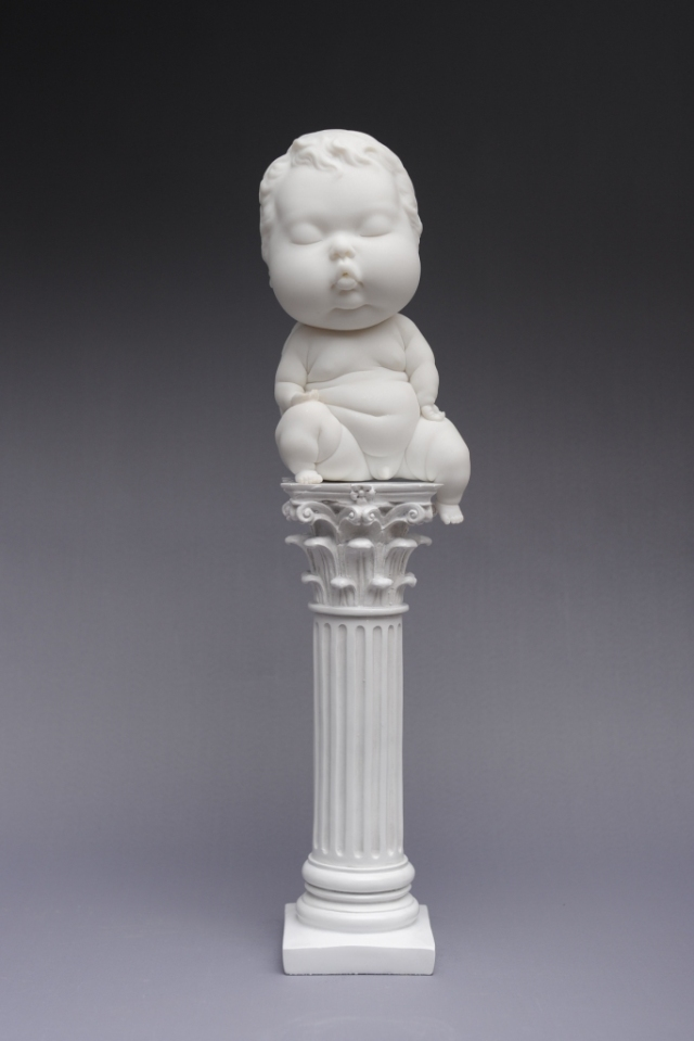 Absent from Duty Resin Angel: L13 W12 H24cm  2015 by Johnson Tsang